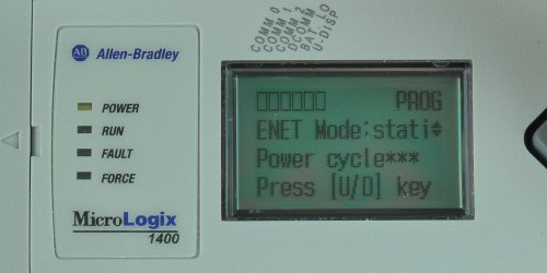 MicroLogix-1400-LCD-ENETcfg-Menu-IP-Mode-Static
