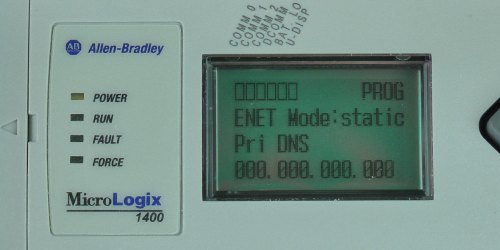 MicroLogix-1400-LCD-ENETcfg-Menu-IP-Static-PDNS-Entry-0