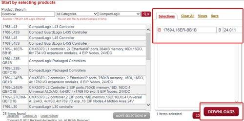 Download A-B PLC Firmware Step 7