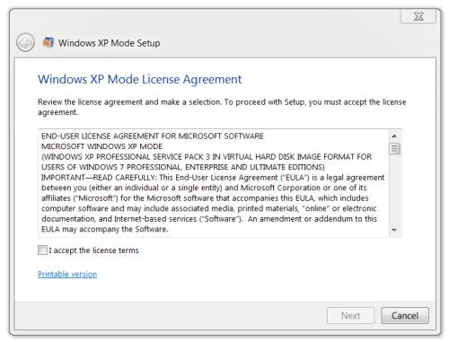 Windows XP Mode 11