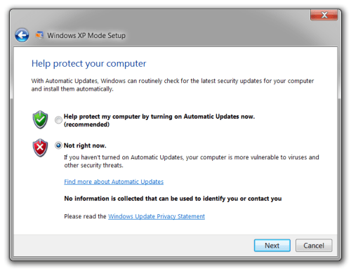Windows XP Mode 13