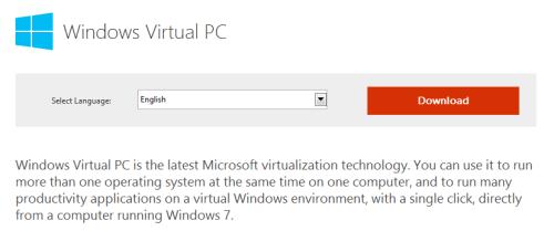 Windows Virtual PC 01