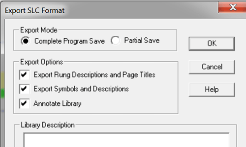 RSLogix-Micro-Save-As-SLC-Complete-with-Export