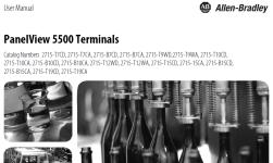 PanelView 5500 User Manual