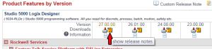 Studio 5000 Logix Designer v27 Release Notes Link