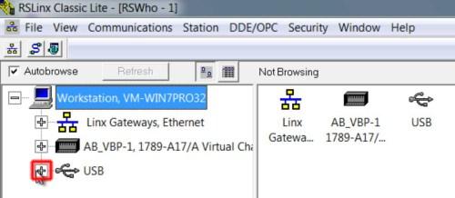 RSLinx to CompactLogix via USB 6 RSL-2h