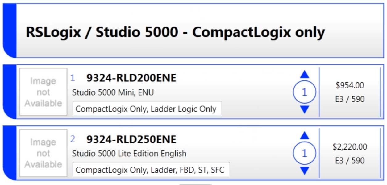 What software do I need to program CompactLogix or ControlLogix