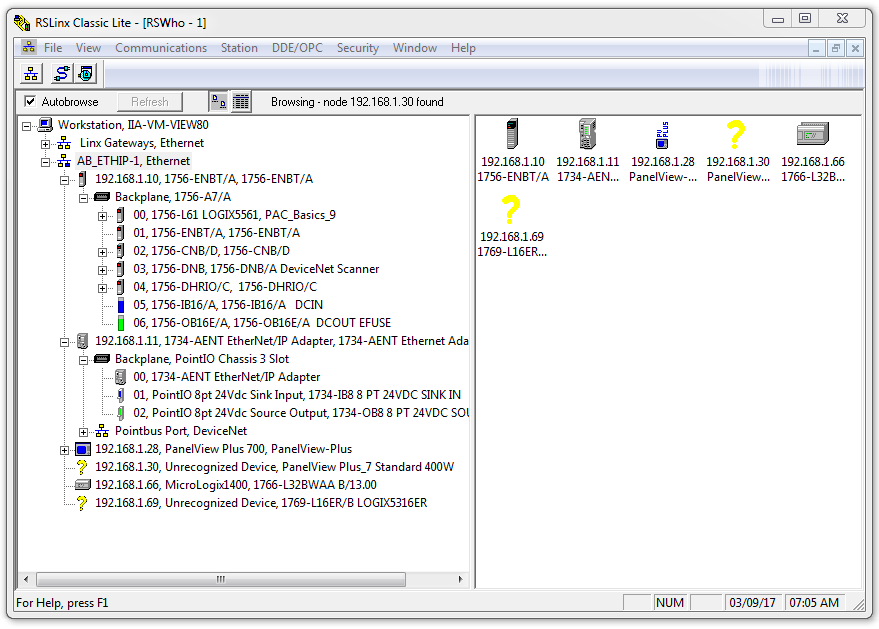 How to install EDS files and eliminate yellow question marks in