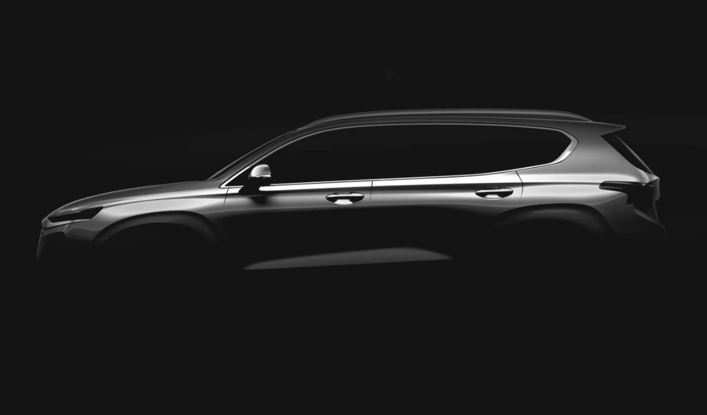 Le Hyundai Santa Fe en approche