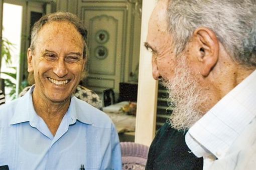 Landau, with Fidel Castro