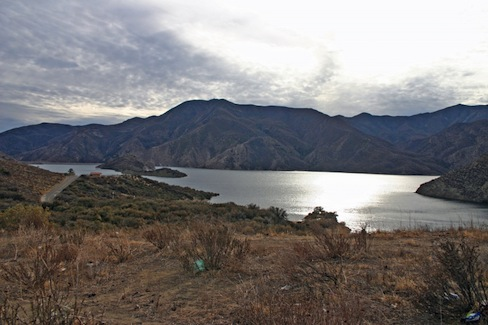 Pyramid Lake in Southern California, at 96 percent of capacity. Photo by Gene Beley.