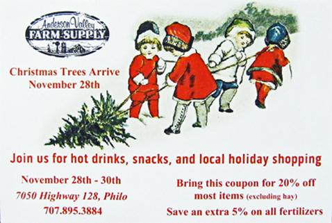 Mendocino County Today Monday Nov 24 Anderson Valley Advertiser