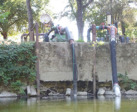 Russian River pumps (photo by Ken Sund)