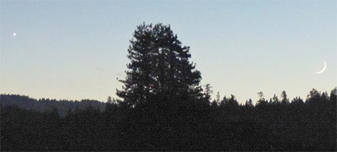 Venus & Moon Over Anderson Valley (Courtesy, MendocinoSportsPlus)
