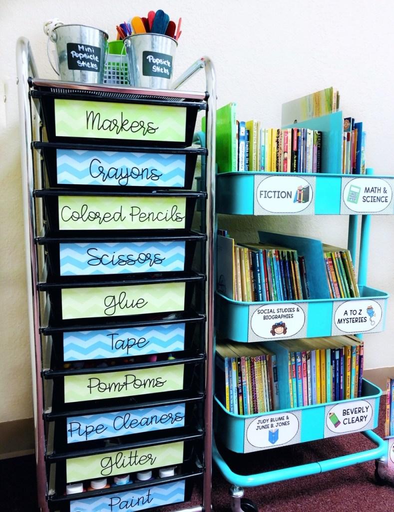 Teacher storage ideas