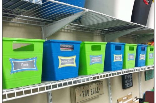 teacher storage ideas - school supplies