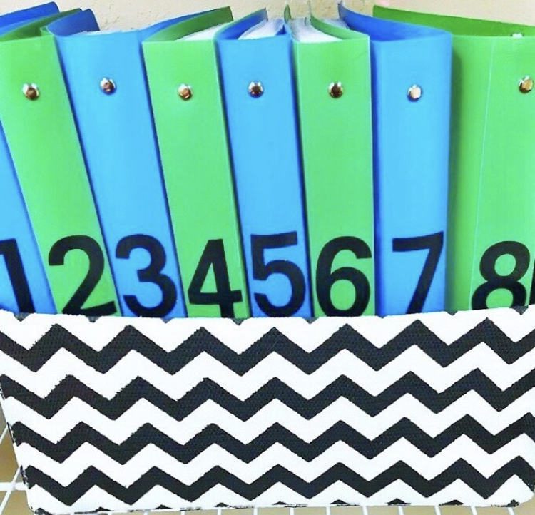 Organization on a budget - Dollar Tree binders