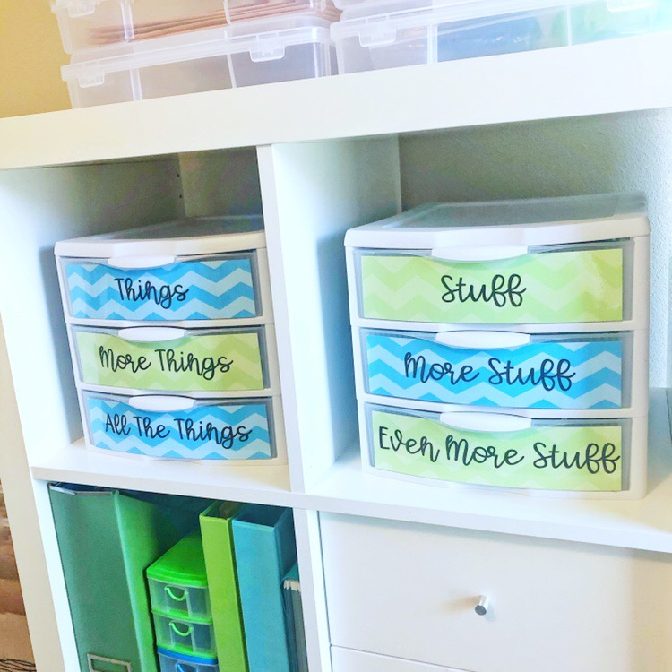 Teacher organization tips - labeling