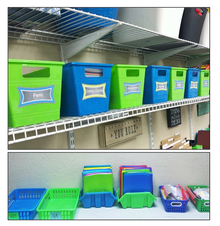 Organization on a budget - Dollar Tree Bins