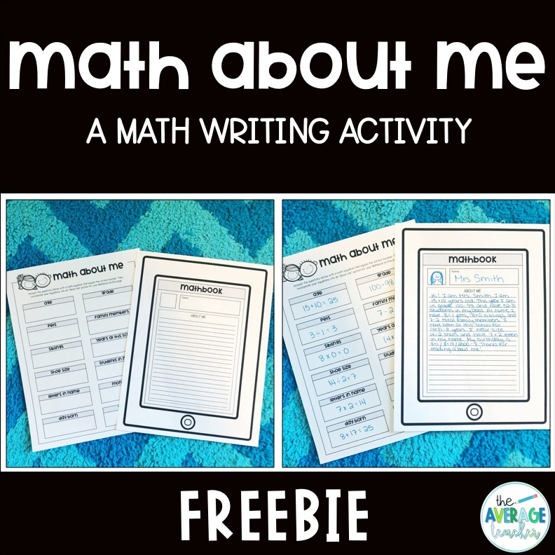 writing-in-math-about-me-tpt