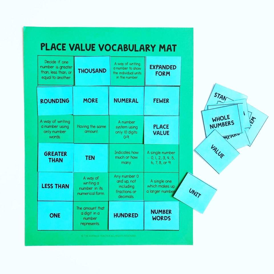 math vocabulary matching games