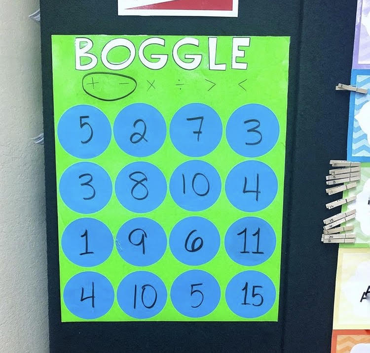 Early Finisher Activities for Math: Boggle!