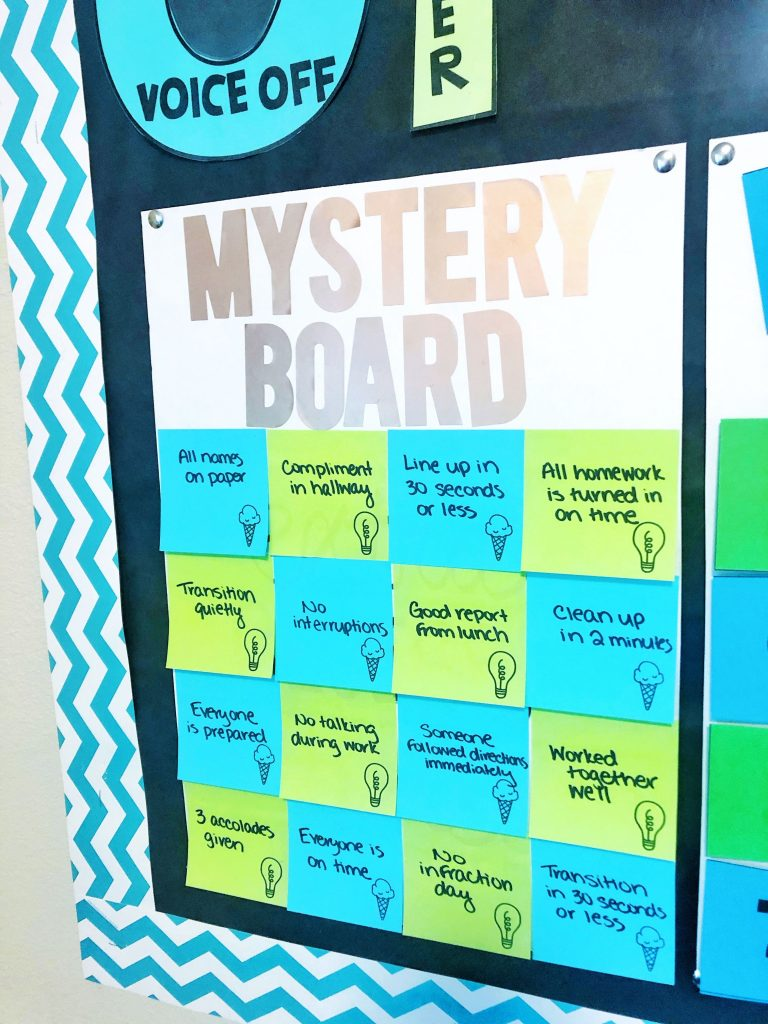 Classroom Management Strategies: Mystery Reward Board