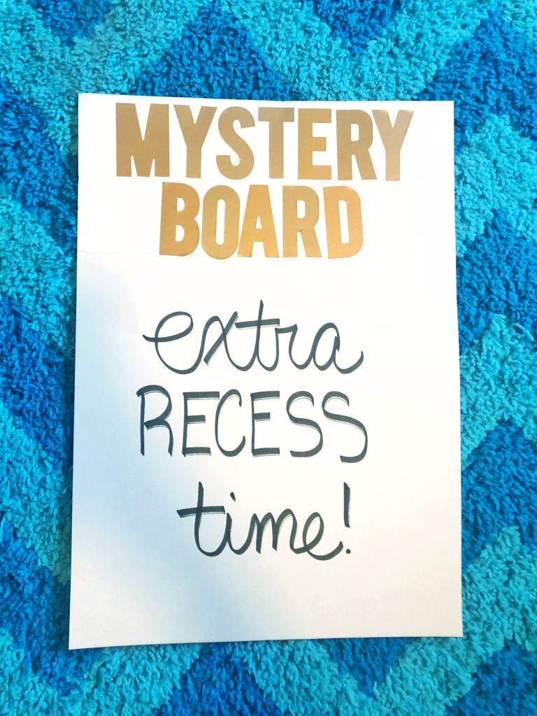 Classroom Management Strategies - mystery reward board