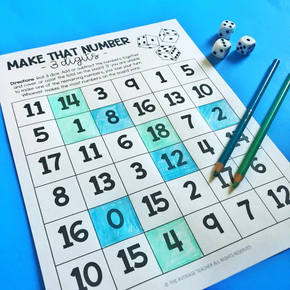 dice-games-for-math