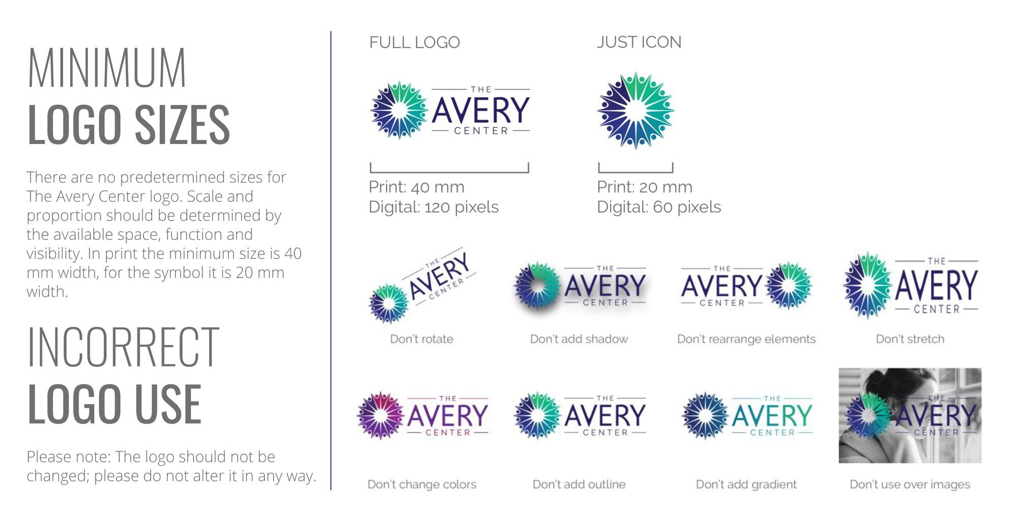 Minimum logo sizes & incorrect logo usage