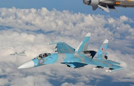 Su-27 intercepted