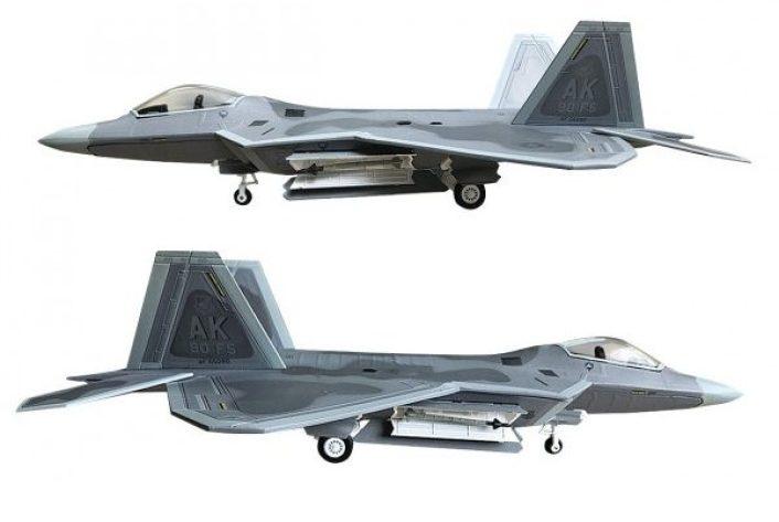 lockheed f 22a raptor model e1591183970870 - U.S. F-22s Intercept Russian Tu-95 bombers, Su-35 fighters and A-50 AEW Aircraft Entering Alaskan ADIZ