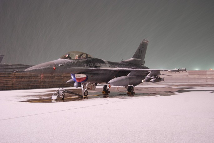 First snow at Bagram