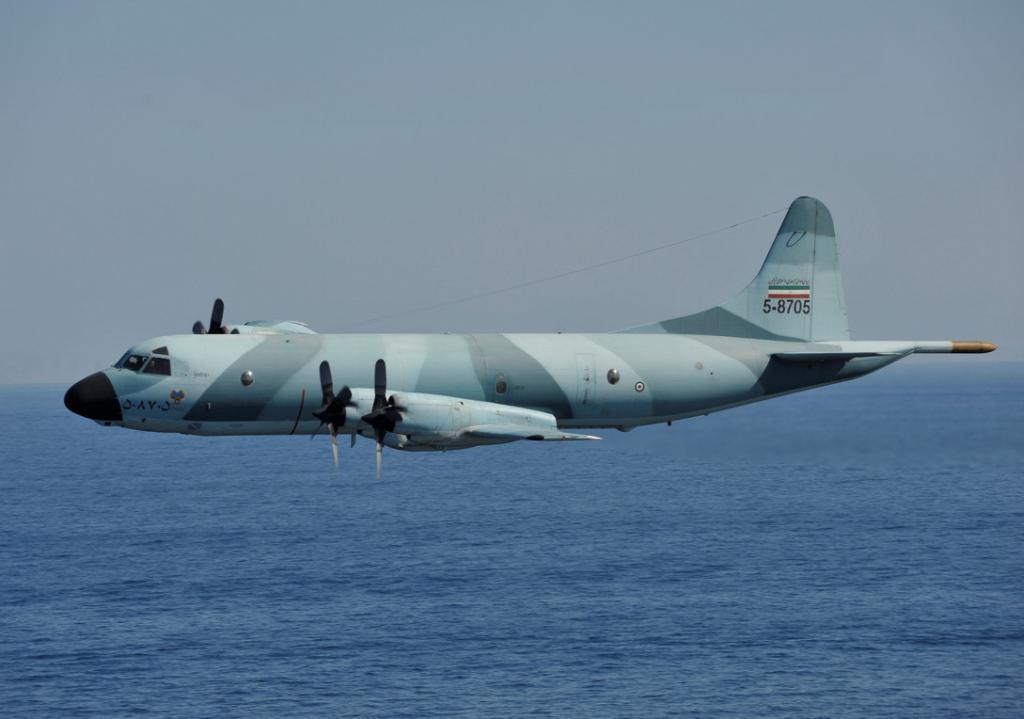 Photo Iranian P 3f Maritime Patrol Plane Buzzes U S Carrier S Control Tower The Aviationist