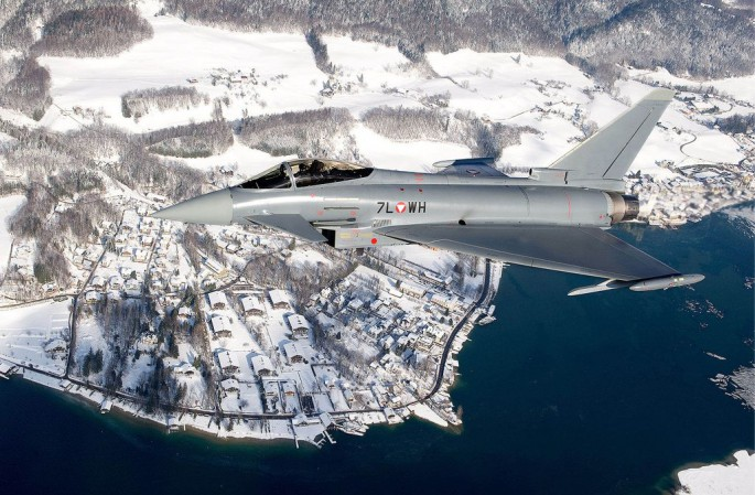 WEF 2014 (Eurofighter in Austria - Lake and Snow)