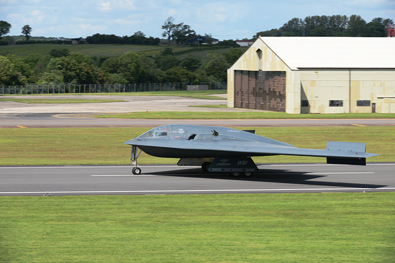 two b 2 spirit stealth bombers have just arrived in uk for a quite