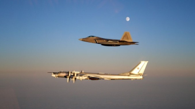 Russian Bombers Fly 50 Miles Off California F 22s And F 15s