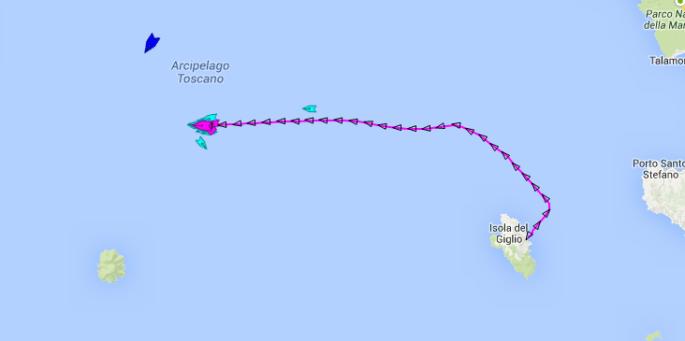 Costa Concordia maritimetraffic