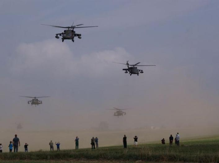 Choppers in Poland take off