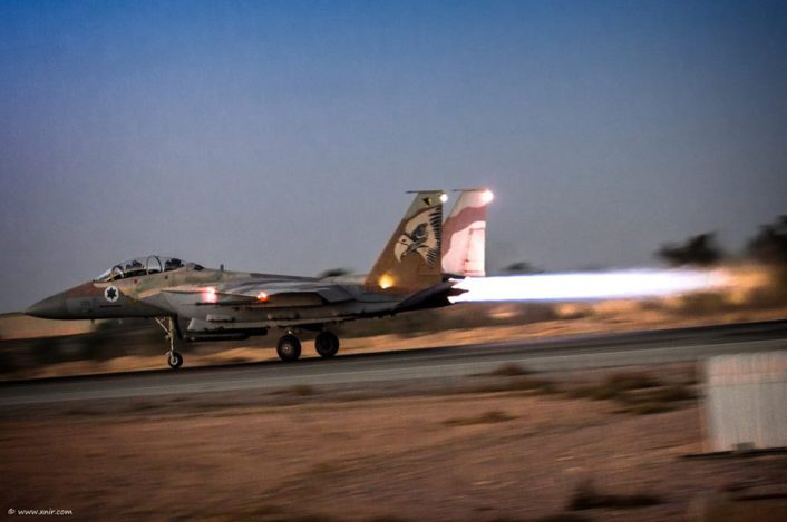 F-15I night takeoff