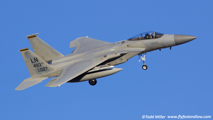 F-15C base turn