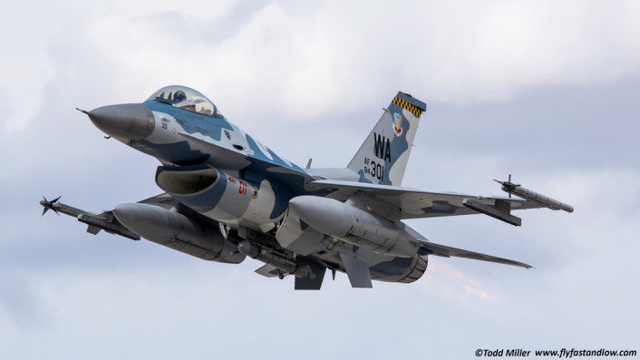 F-16 AGRS takeoff