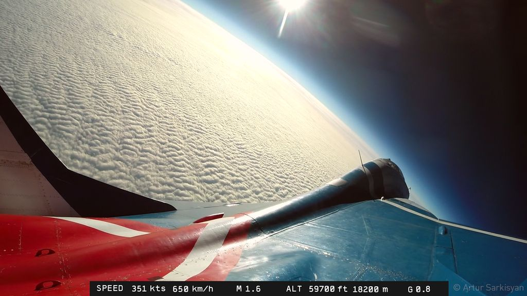 This Is What It's Like to Fly to the Edge of Space in a MiG-29 Fulcrum