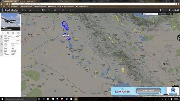 A330 over Iraq
