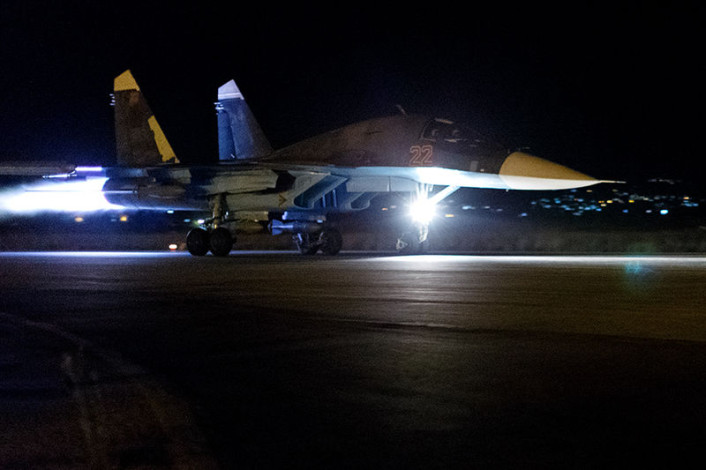 Su-34 night launch 1