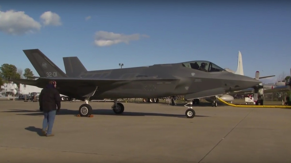 F 35 Arrival At Nas Patuxent River After First Transatlantic Crossing B Roll And Pilot Interview