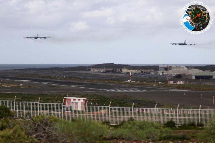 B-52 low over Gando