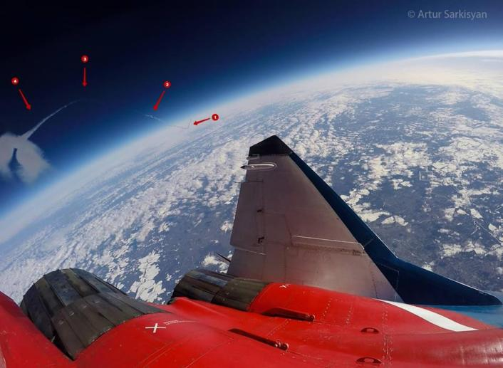Mig-29 to the edge of space