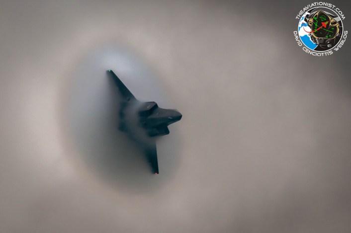 F-35 condensation cloud
