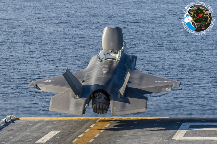 USMC F-35B of VMFA-211 launches off the USS America (LHA-6) during USMC proof of concept capabiliity demonstration November 19, 2016.